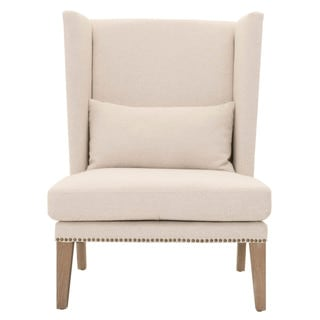 Gray Manor Dorothy Natural/Off-white Wood/Mahogany/Fabric Club Chair
