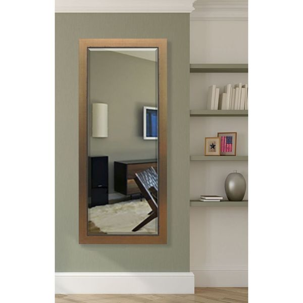 Floor Mirror Lowes: Shop American Made Rayne Golden Lowe Extra Tall Wall