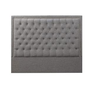 Tufted Fabric Upholstered Nailhead Headboard