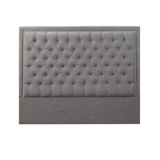Tufted Fabric Upholstered Nailhead Headboard