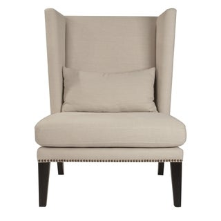 Gray Manor Dorothy Oatmeal Linen Club Chair