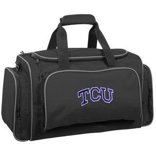 WallyBags Black Polyester 21-inch Texas Christian Horned Frogs Collegiate Duffel Bag