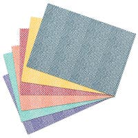Blue/Red/Green/Gold/Orange 100-percent Cotton 13-inch x 19-inch Feather Pattern Placemats (Sets of 2 or 4)