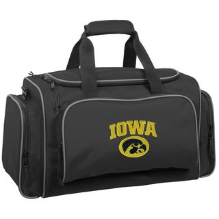 WallyBags Iowa Hawkeyes Black Polyester 21-inch Collegiate Duffel Bag