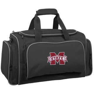 WallyBags Mississippi State Bulldogs Black Polyester 21-inch Collegiate Duffel Bag