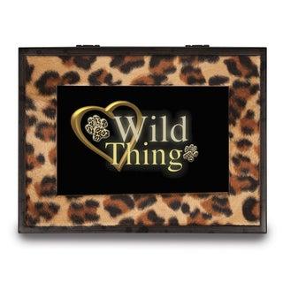 Versil Wild Thing Animal Print Music Box