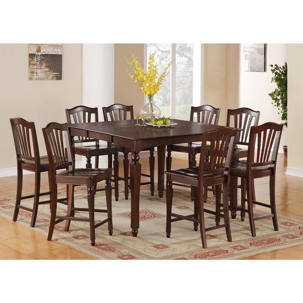Shop Chel7 Mah 7 Piece Pub Height Table Set Free Shipping Today