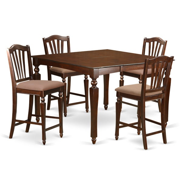 CHEL5-MAH 5-piece Counter-height Dining Table Set