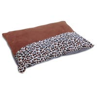 Aspen Pet Brown Polyester Animal Print Knife Edge Dog Pillow Bed