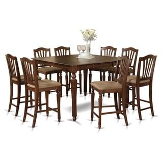 CHEL9-MAH 9-piece Gathering Table Set