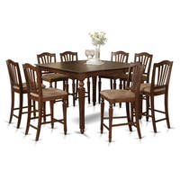 CHEL9-MAH 9-piece Gathering Table Set