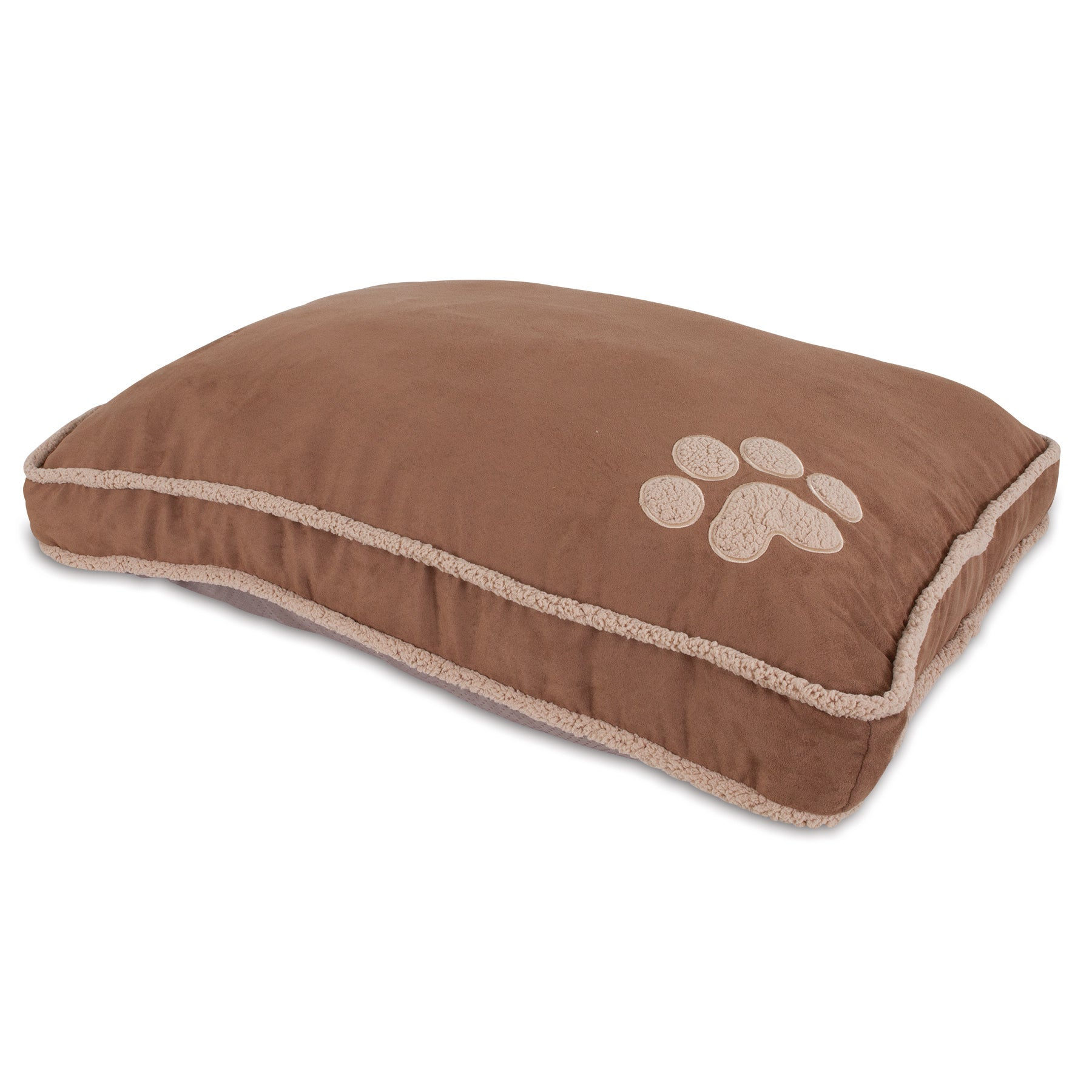 Aspen Pet Shearling Gusseted Pillow Dog Bed (Extra Large)...