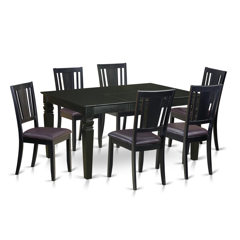 Black Rubberwood Kitchen Dinette Table