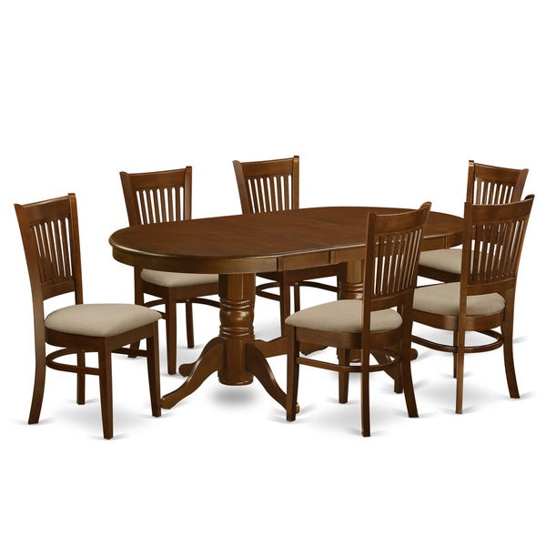 Vancouver Espresso Rubberwood 7 Piece Dining Room Set Free Shipping Today