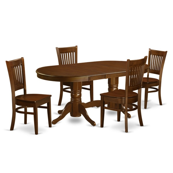 Espresso Finish Rubberwood Dining Table With 4 Chairs Free Shipping Today 11967616