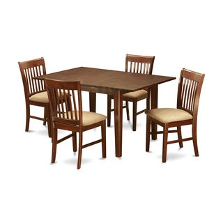 PSNO5-MAH Mahogany Rubberwood Dinette Small Table With 4 Dining Chairs (Pack of 5)