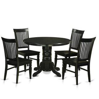SHWE5-W Rubberwood 5-piece Small Kitchen Table Set