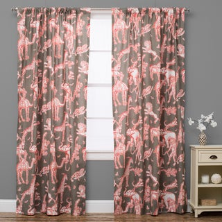Charmed Safari Brown Red Curtain Panel