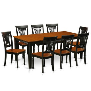 QUPL9-W Rubberwood Dining Table With 8 Dining Chairs