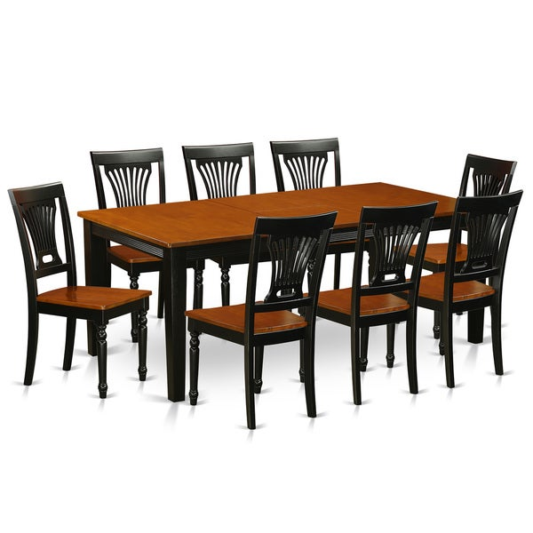Qupl9 w rubberwood dining table with 8 dining chairs for Dining room furniture 0 finance