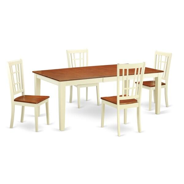 Quni5 whi 5 piece kitchen dinette set free shipping for 10 piece kitchen table set