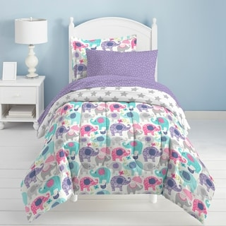 Dream Factory Elley Elephant 7-piece Bed in a Bag with Sheet Set