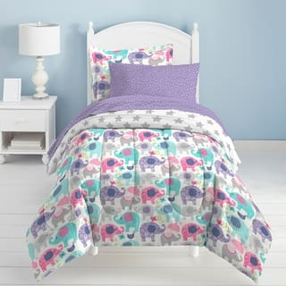 Dream Factory Elley Elephant 7-piece Bed in a Bag with Sheet Set (Option: Twin) https://ak1.ostkcdn.com/images/products/11967653/P18851915.jpg?impolicy=medium