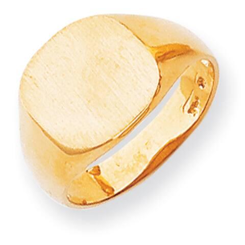 Versil 14k Yellow Gold Men's Signet Ring