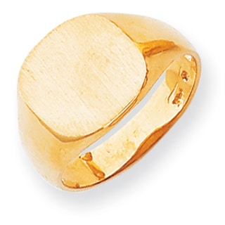Versil 14k Yellow Gold Men's Signet Ring