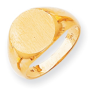 Versil 14k Gold Men's Open Back Signet Ring