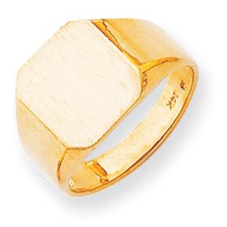 Versil 14k Solid Men's Signet Ring|https://ak1.ostkcdn.com/images/products/11967667/P18851895.jpg?impolicy=medium