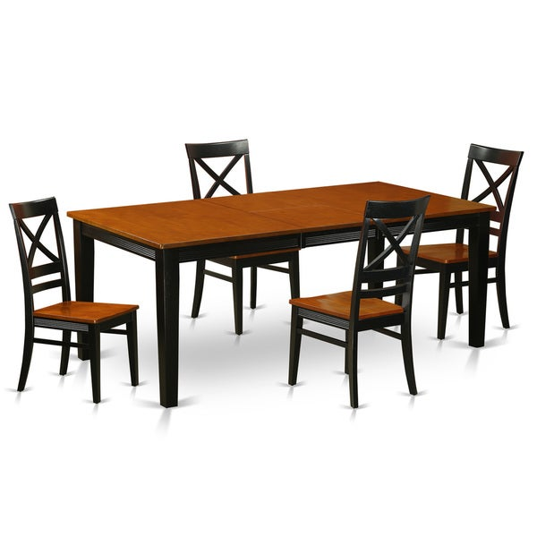 quincy rubberwood 5 piece dining table set dining table