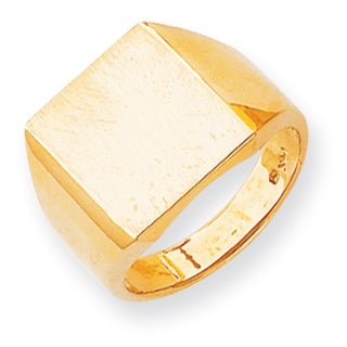 d71fe3228a3ddc Shop Versil 14k Gold Men's Brushed and Polished Signet Ring - Free ...