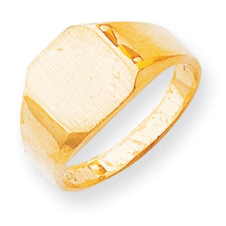 Versil Men's 14k Yellow Gold Traditional Signet Ring