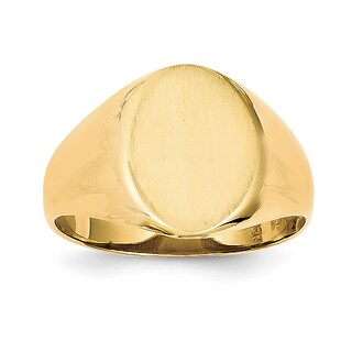 Versil Men's 14k Gold Oval Signet Ring