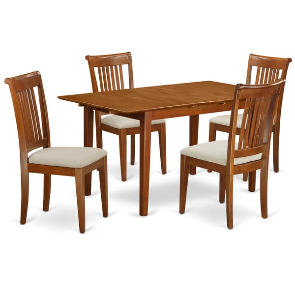 PSPO5-SBR 5-piece Small Kitchen Table Set With Leaf And 4