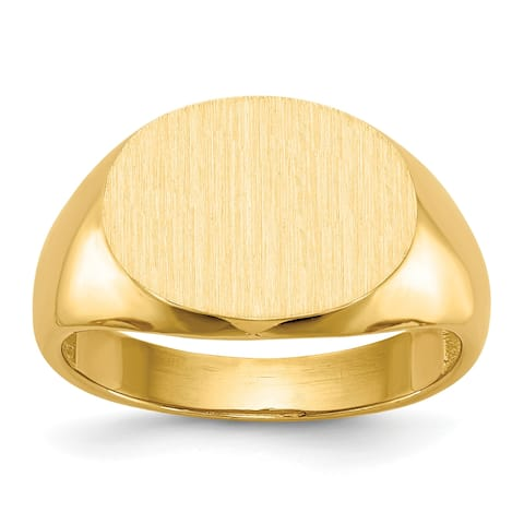 Versil Men's 14 Karat Gold Tapered Signet Ring
