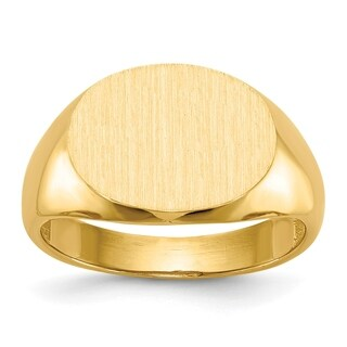 Versil Men's 14 Karat Gold Tapered Signet Ring
