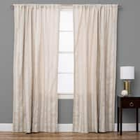Natural Striped Cotton Curtain Panel