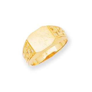 Versil Men's 14-karat Yellow Gold High-polished Signet Ring