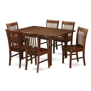PSNO7-MAH 7-piece Rubberwood Mahogany Kitchen Dinette Set|https://ak1.ostkcdn.com/images/products/11967685/P18851994.jpg?impolicy=medium