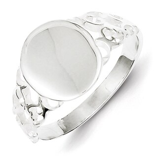 Versil Solid Sterling Silver Signet Ring
