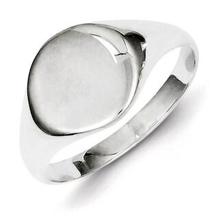 Versil Men's Sterling Silver High-polish Signet Ring