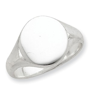 Versil Sterling Silver Closed Back Signet Ring