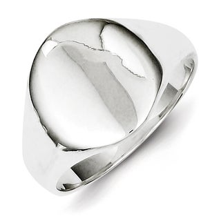Versil Sterling Silver Tapered Signet Ring