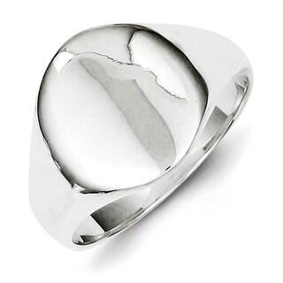 Versil Sterling Silver Tapered Signet Ring