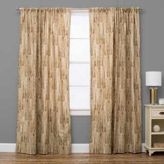 Lodge Rustic Natural Curtain Panel (4 options available)