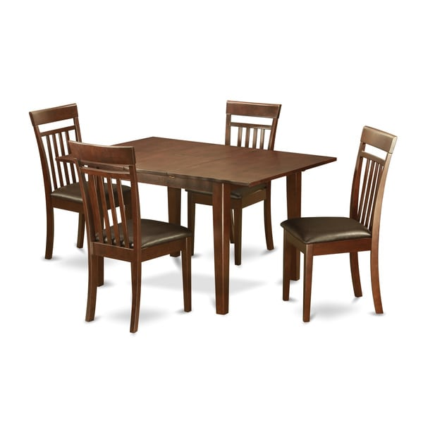 Small Wooden Kitchen Table And Chairs 3 Piece Set: 5-piece Small Mahogany Rubberwood Dining Set