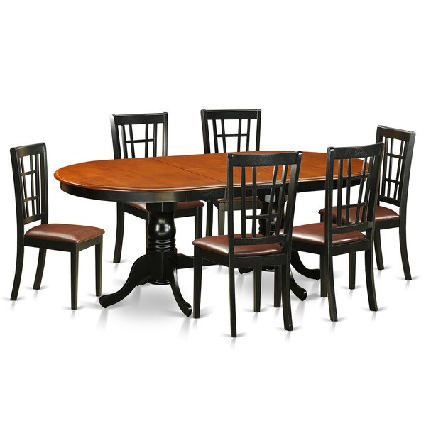 BlackCherry Finish Rubberwood Dining Table with 6 Dining  : PLNI7 BCH 7 PC Dining room set Dining table with 6 Solid Wood Dining room chairs b12ebad7 12e8 408b 95f6 c38139be3148600 from www.overstock.com size 600 x 600 jpeg 32kB
