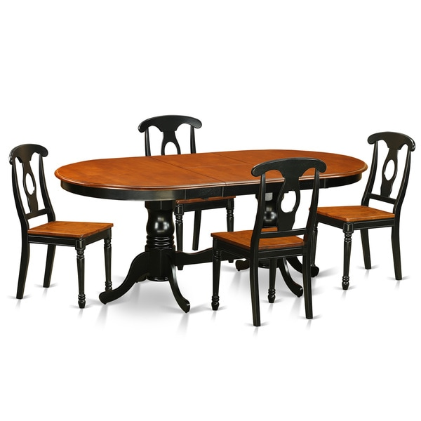 Shop PLKE5-BCH-LC Black/Cherry Rubberwood Dining Table